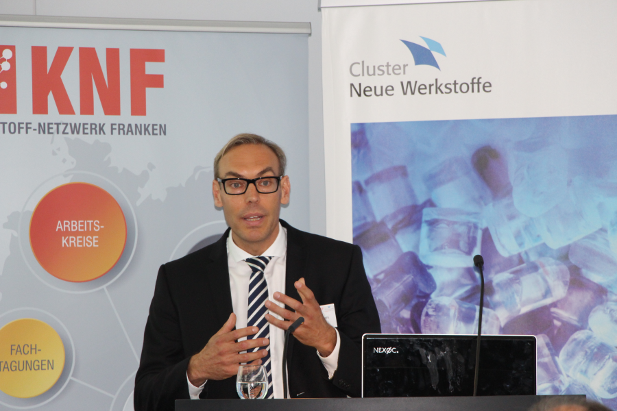 Maarten Wermers von der Merck KGaA referiert zum Thema Future Mobility - Threats or Opportunities?