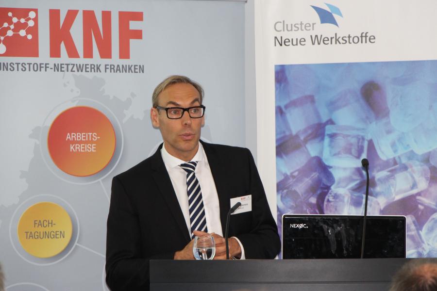 Maarten Wermers von der Merck KGaA referiert zum Thema Future Mobility - Threats or Opportunities?