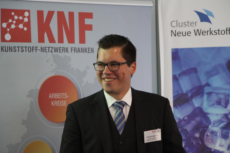 Dipl.-Ing. Thomas Uhlemann vom Fraunhofer IPA referiert über die Bewertung von Produktionsanlagen: von der messtechnikbasierten Datenanalyse bis zu Deep Learning