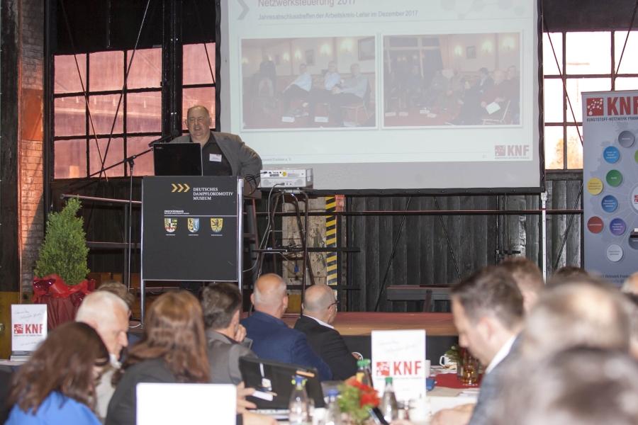 Geschäftsführer Hans Rausch blickte auf die Entwicklung des Netzwerkes und die Aktivitäten aus dem Jahr 2017 zurück
