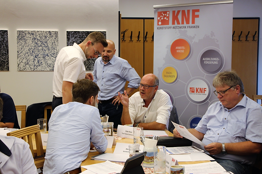 Treffen auf Geschäftsführer- und Leitungsebene im KNF am 14. August 2018