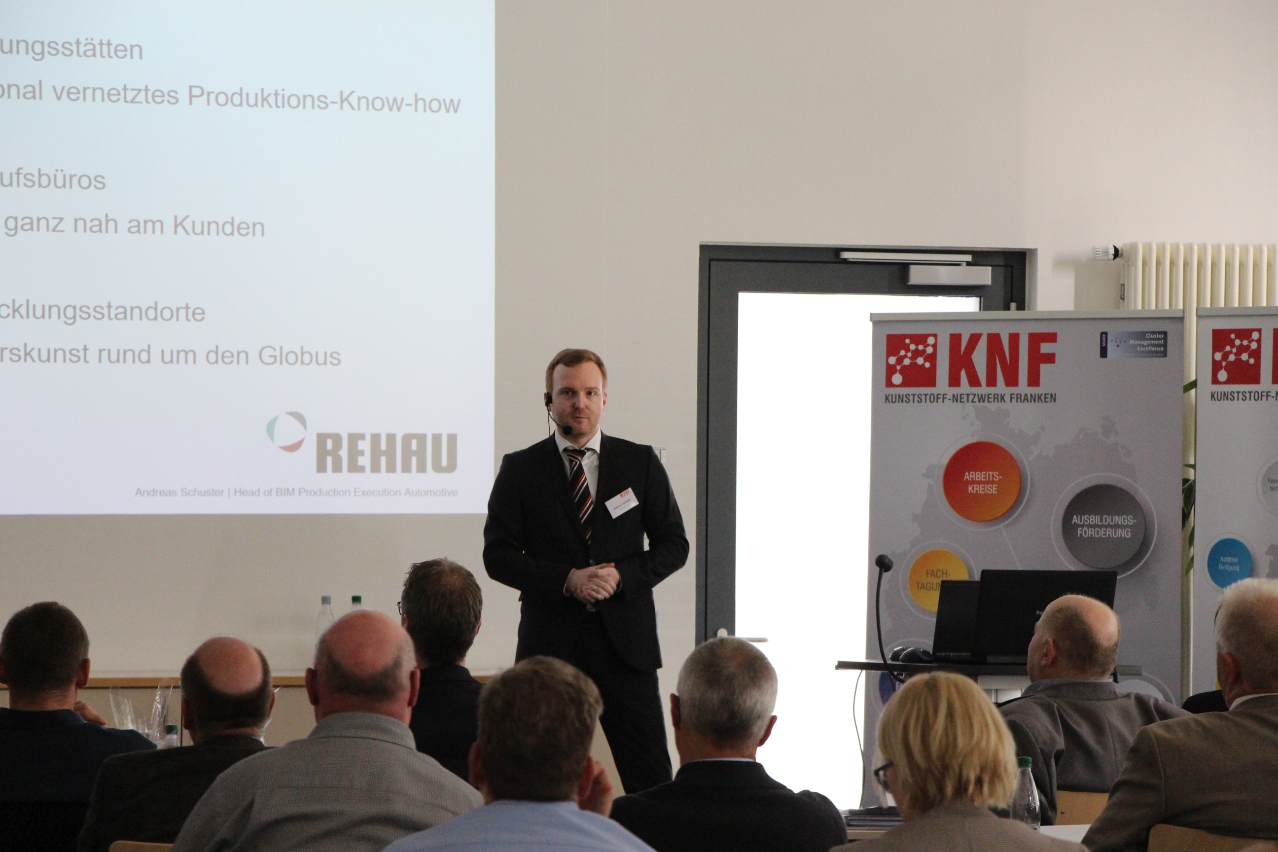Referent Andreas Schuster, REHAU AG + Co., Rehau