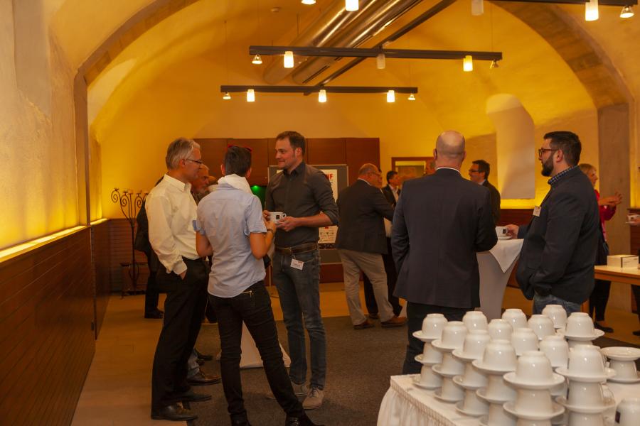 Empfang der Gäste im Schloß Thurnau