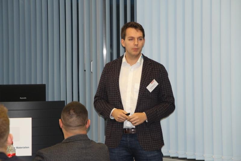 Kai Kegelmann von der Kegelmann Technik GmbH hält den Abschlussvortrag mit dem Titel Qualitätssicherung in der additiven Fertigung Kunststoff